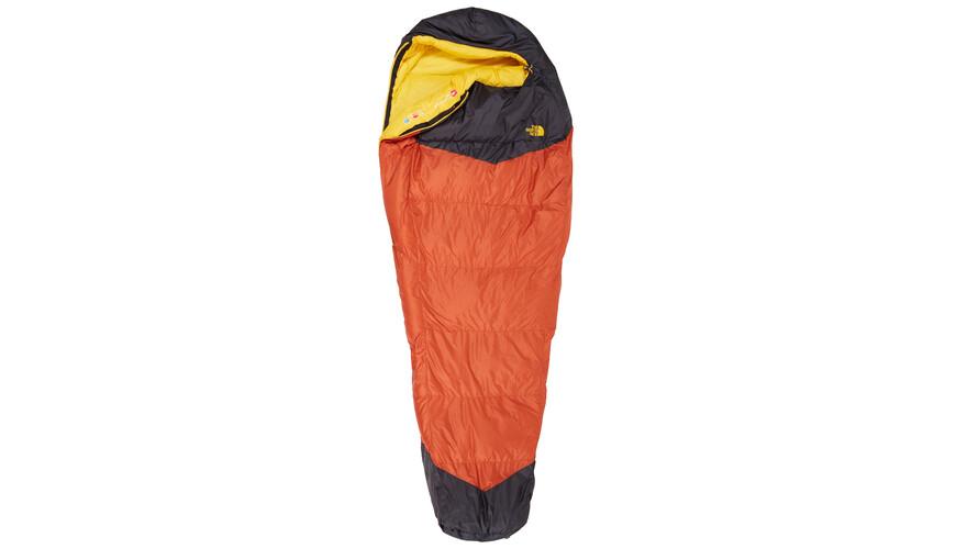 The North Face Gold Kazoo Sleeping Bag Regular Orange Rust/Asphalt Grey